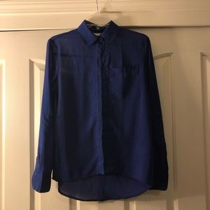 AEROPOSTALE- Blue button up blouse